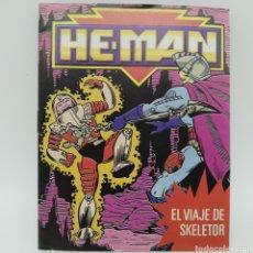 Figuras Masters del Universo: MINI CÓMIC Y CATÁLOGO DE HE-MAN, MASTERS DEL UNIVERSO MATTEL DE 1990 EL VIAJE DE SKELETOR. Lote 221649842