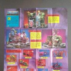 Figuras Masters del Universo: POSTER MASTERS DEL UNIVERSO - DOBLE CARA - CHECK LIST FIGURAS Y ACCESORIOS - RAREZA MOTU. Lote 221676406