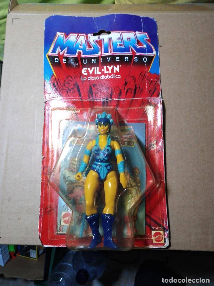 BLISTER MASTERS DEL UNIVERSO EVIL LYN BLISTER ESPAÑOL MATTEL 1985 MOTU SPAIN (Juguetes - Figuras de Acción - Master del Universo)