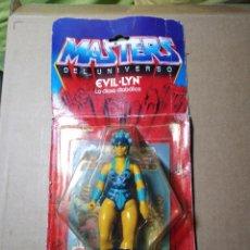 Figuras Masters del Universo: BLISTER MASTERS DEL UNIVERSO EVIL LYN BLISTER ESPAÑOL MATTEL 1985 MOTU SPAIN. Lote 222566853