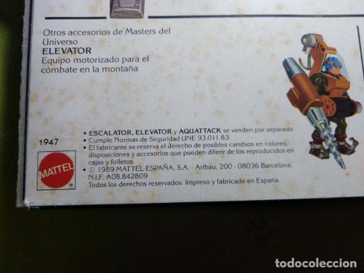 Figuras Masters del Universo: CAJA SIN ABRIR ANTIGUO ACCESORIO ESCALATOR MASTER DEL UNIVERSO HE MAN NUEVO EN CAJA ORIGINAL - Foto 8 - 223646968