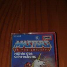 Figuras Masters del Universo: MASTERS OF THE UNIVERSE CASETE ORIGINAL ALEMANIA HÖHLE DES SCHRECKENS. Lote 224257611