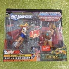 Figuras Masters del Universo: MOTU CLASSICS MOTUC - SUPERGIRL VS SHE-RA - MATTEL - MASTERS UNIVERSO - NUEVA DC UNIVERSE. Lote 230022855