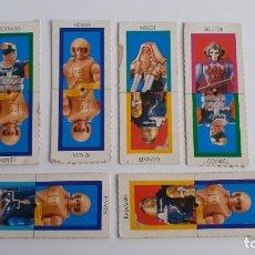 Figuras Masters del Universo: LOTE 6 FICHAS DE CARTON LAS NUEVAS AVENTURAS DE HEMAN MASTERS UNIVERSO. Lote 239674835