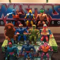 Figurines Maîtres de l'Univers: LOTE 11 FIGURAS DE ACCION MASTERS DEL UNIVERSO MOTU ORKO GRIZZLOR TRAP JAW WEBSTOR TRIKLOPS MEKANEK. Lote 242913915