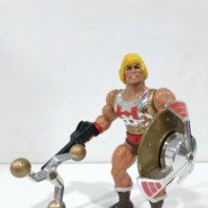 Figurines Maîtres de l'Univers: HE-MAN PUÑO BOLEADOR 1985 COMPLETO. HE-MAN FLYING FISTS. MOTU. MASTERS DEL UNIVERSO. Lote 243076140