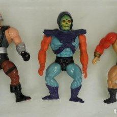 Figuras Masters del Universo: FIGURAS DE ACCION MASTERS DEL UNIVERSO , HEMAN , MOTU - SKELETOR , BLADE , FISTO. Lote 243593580