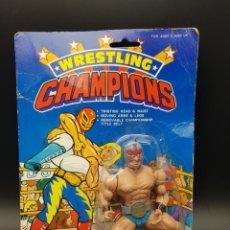 Figuras Masters del Universo: WRESTLING CHAMPIONS - ¡¡¡ LA DIFICIL !!! AMAZING UNMASKED - BIZARRE FIGURE - TOP DANGER. Lote 244429855