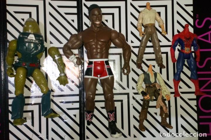 LOTE DE 5 FIGURAS, HE-MAN,WWE,INDIANA JONES,SPIDERMAN,PIRATAS...CON DEFECTOS, PARA PIEZAS O REPARAR (Juguetes - Figuras de Acción - Master del Universo)