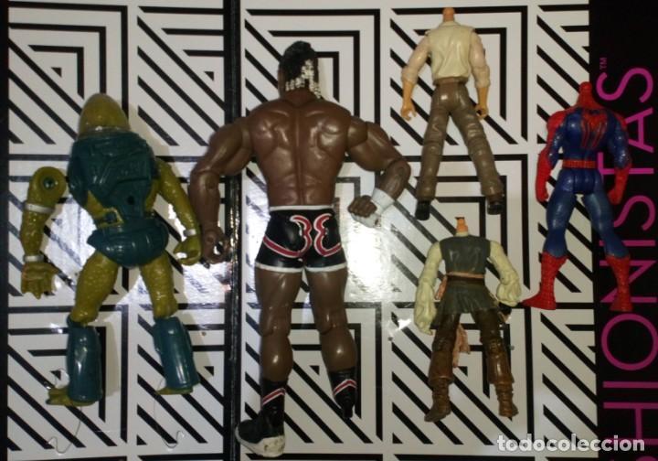 Figuras Masters del Universo: LOTE DE 5 FIGURAS, HE-MAN,WWE,INDIANA JONES,SPIDERMAN,PIRATAS...CON DEFECTOS, PARA PIEZAS O REPARAR - Foto 2 - 245136030