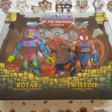 Figuras Os Masters do Universo: ROTAR & TWISTOID PACK MOTUC MASTERS DEL UNIVERSO HE-MAN NUEVO. Lote 249046020