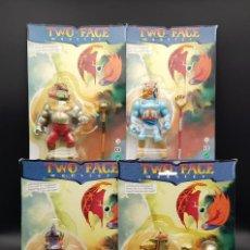 Figuras Masters del Universo: TWO FACE MONSTER COMPLETE SET 4 FIGURAS BOOTLEG MASTERS DEL UNIVERSO MOTU K.O - ULTRA RARE. Lote 251633305