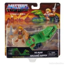 Figuras Masters del Universo: FIGURA HE-MAN & GROUND RIPPER 5 CM - MASTERS OF THE UNIVERSE ETERNIA MINIS - MATTEL. Lote 252630760