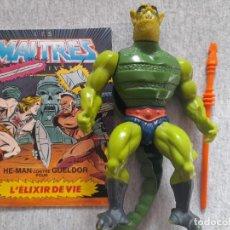 Figuras Masters del Universo: WHIPLASH FRANCIA COMPLETO CON COMIC MOTU MASTERS DEL UNIVERSO. Lote 254135355
