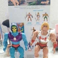 Figuras Masters del Universo: HE-MAN PUÑO BOLEADOR Y SKELETOR GARRA DIABÓLICA MATTEL INC 1985.. Lote 254625700