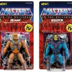 Figuras Masters del Universo: MOTU MASTERS OF THE UNIVERSE SUPER 7 VINTAGE HE-MAN + SKELETOR. Lote 261242970
