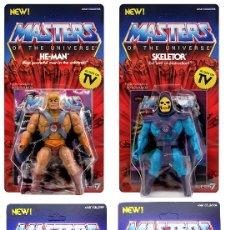 Figuras Masters del Universo: MOTU MASTERS OF THE UNIVERSE SUPER 7 VINTAGE HE-MAN + SKELETOR + TEELA+ MAN AT ARMS. Lote 261243310