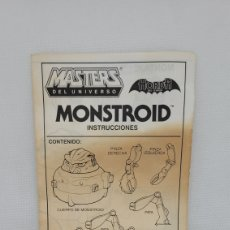 Figuras Masters del Universo: MASTERS UNIVERSO INSTRUCCIONES MONSTROID. VERSIÓN ESPAÑOLA. MATTEL 1986.. Lote 261281195