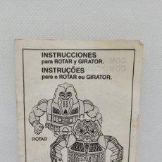 Figuras Masters del Universo: MASTERS UNIVERSO INSTRUCCIONES ROTAR Y GIRATOR. MATTEL 1988. VERSIÓN ESPAÑOLA.. Lote 261281585
