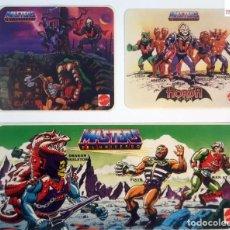 Figuras Masters del Universo: LOTE 3 PEGATINAS MASTERS DEL UNIVERSO MATTEL VINTAGE AÑO 1987. MOTU. Lote 263152295