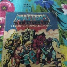 Figuras Masters del Universo: MINI COMIC CATÁLOGO HE-MAN Y LA ESPADA DEL PODER. Lote 263214465
