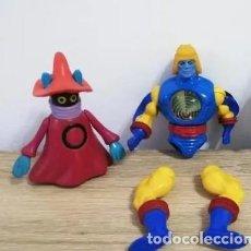 Figuras Masters del Universo: 2 FIGURAS DE LOS MASTERS DEL UNIVERSO, SKYKLONE, ORKO, MOTU. MATTEL.. Lote 253517390