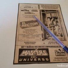 Figuras Os Masters do Universo: RARISIMO RECORTE ANUNCIO MASTERS DEL UNIVERSO 1988 RAREZA COLECCIONISTAS CINE MALLORCA. Lote 269470843