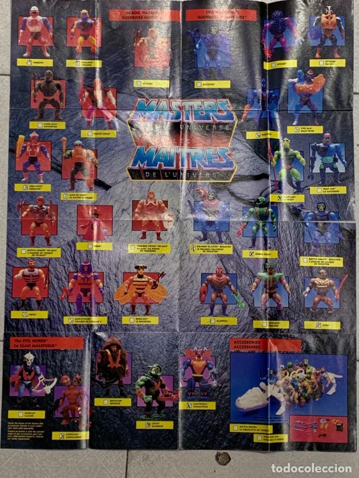 CATALOGO MASTERS OF THE UNIVERSE 1989 MATTEL INGLES FRANCES PRINTED CANADA 54X42CMS (Juguetes - Figuras de Acción - Master del Universo)