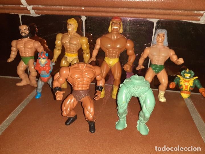 MASTERS DEL UNIVERSO,HE MAN, WWE PRESING CATCH BOOTLEG LOTE DE 8 FIGURAS ANTIGUAS. (Juguetes - Figuras de Acción - Master del Universo)