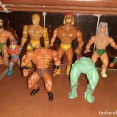 Figuras Masters del Universo: MASTERS DEL UNIVERSO,HE MAN, WWE PRESING CATCH BOOTLEG LOTE DE 8 FIGURAS ANTIGUAS.. Lote 272737893