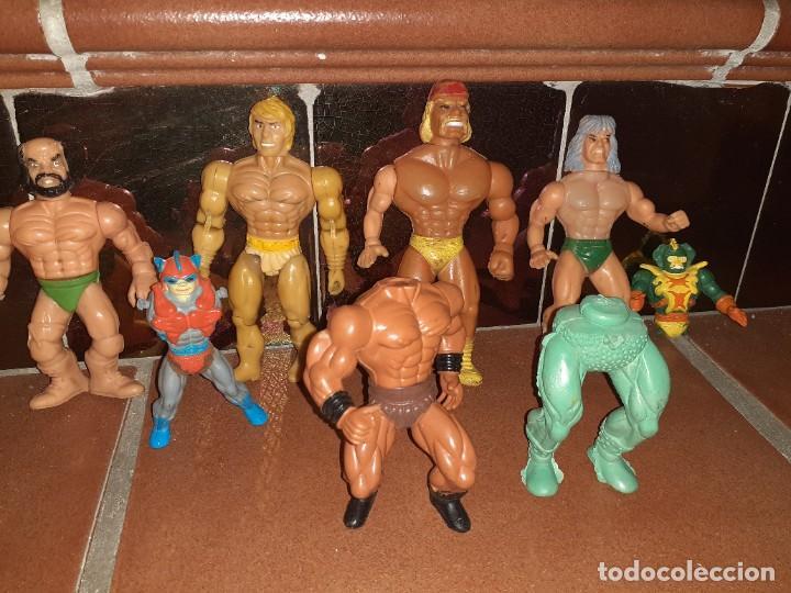 Figuras Masters del Universo: Masters del Universo,HE MAN, WWE Presing Catch bootleg lote de 8 figuras antiguas. - Foto 2 - 272737893