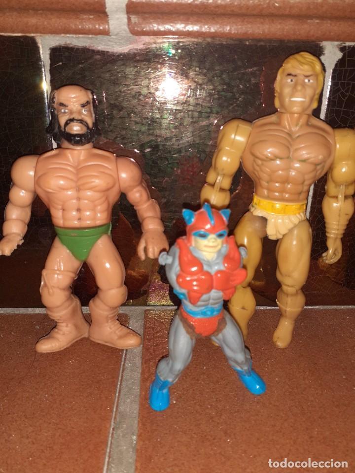 Figuras Masters del Universo: Masters del Universo,HE MAN, WWE Presing Catch bootleg lote de 8 figuras antiguas. - Foto 3 - 272737893