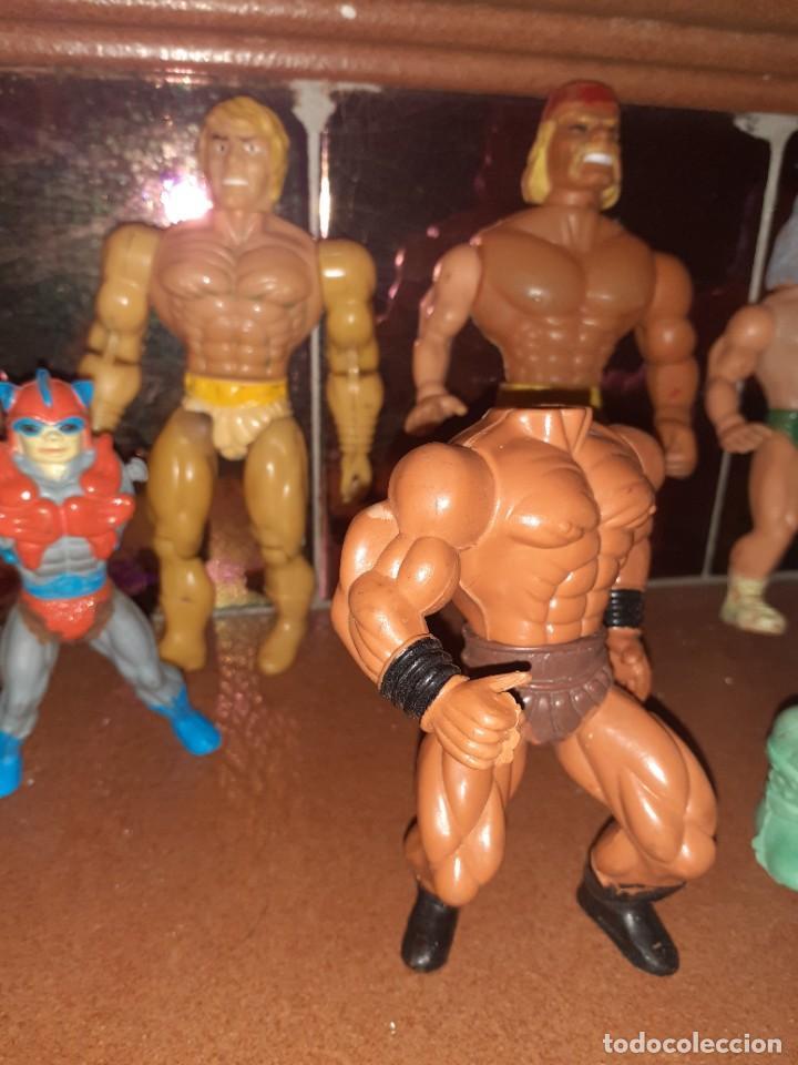 Figuras Masters del Universo: Masters del Universo,HE MAN, WWE Presing Catch bootleg lote de 8 figuras antiguas. - Foto 4 - 272737893