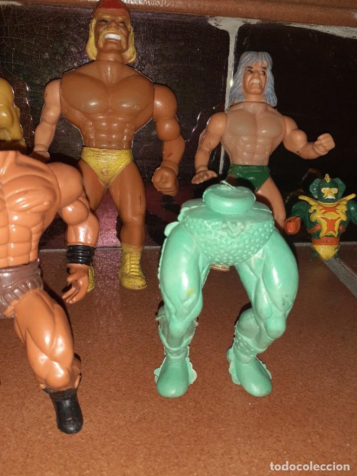 Figuras Masters del Universo: Masters del Universo,HE MAN, WWE Presing Catch bootleg lote de 8 figuras antiguas. - Foto 5 - 272737893