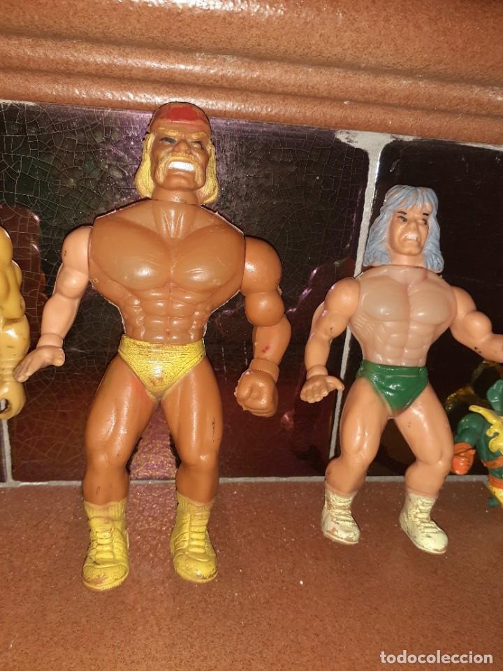 Figuras Masters del Universo: Masters del Universo,HE MAN, WWE Presing Catch bootleg lote de 8 figuras antiguas. - Foto 6 - 272737893