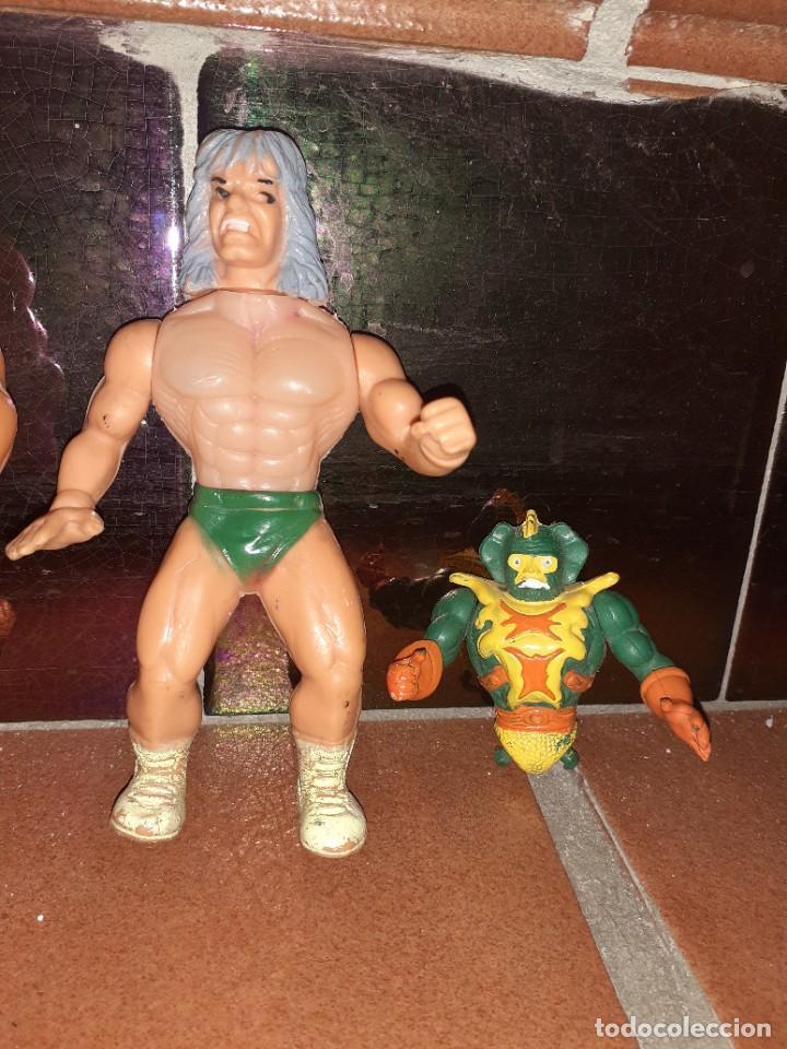 Figuras Masters del Universo: Masters del Universo,HE MAN, WWE Presing Catch bootleg lote de 8 figuras antiguas. - Foto 7 - 272737893