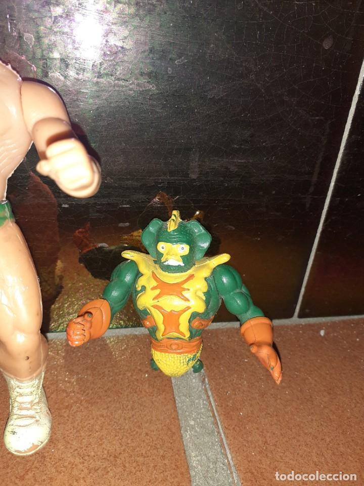 Figuras Masters del Universo: Masters del Universo,HE MAN, WWE Presing Catch bootleg lote de 8 figuras antiguas. - Foto 8 - 272737893