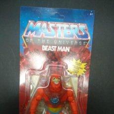 Figuras Masters del Universo: BEAST MAN FIGURA 14 CM MASTERS OF THE UNIVERSE ORIGINS MATTEL NUEVA A ESTRENAR. Lote 277431613