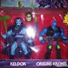 Figuras Masters del Universo: MASTERS OF THE UNIVERSE ORIGINS KELDOR Y KRONIS RISE OF EVIL. Lote 277457238