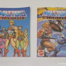 Figuras Masters del Universo: LOTE DE 2 ANTIGUOS CATÁLOGOS MASTER DEL UNIVERSO MATTEL 1987 . NO SE VENDEN POR SEPARADO.. Lote 284084263
