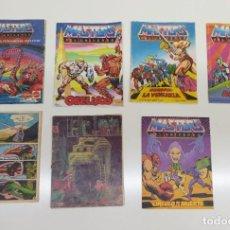 Figuras Masters del Universo: LOTE DE 5 REVISTAS MASTER DEL UNIVERSO TIPO COMIC O HISTORIETAS.. Lote 284244283