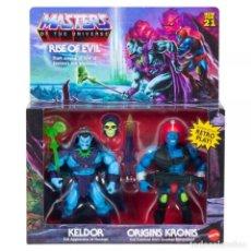 Figuras Masters del Universo: KELDOR & KRONIS RISE OF EVIL MASTERS OF THE UNIVERSE HE-MAN ORIGINS. Lote 287798603