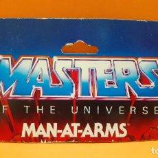 Figuras Masters del Universo: MASTERS DEL UNIVERSO MASTERS OF THE UNIVERSE CARD CARTON - MAN-AT-ARMS. Lote 289318498