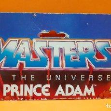 Figuras Masters del Universo: MASTERS DEL UNIVERSO MASTERS OF THE UNIVERSE CARD CARTON - PRINCIPE ADAM. Lote 289318843