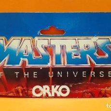 Figuras Masters del Universo: MASTERS DEL UNIVERSO MASTERS OF THE UNIVERSE CARD CARTON - ORKO. Lote 289319933