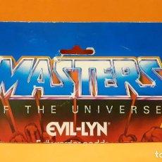 Figuras Masters del Universo: MASTERS DEL UNIVERSO MASTERS OF THE UNIVERSE CARD CARTON - EVIL-LYN. Lote 289320598