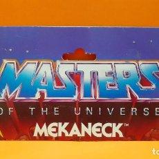Figuras Masters del Universo: MASTERS DEL UNIVERSO MASTERS OF THE UNIVERSE CARD CARTON - MEKANECK. Lote 289321853