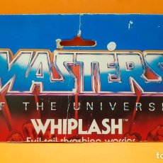 Figuras Masters del Universo: MASTERS DEL UNIVERSO MASTERS OF THE UNIVERSE CARD CARTON - WHIPLASH. Lote 289322983
