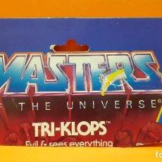 Figuras Masters del Universo: MASTERS DEL UNIVERSO MASTERS OF THE UNIVERSE CARD CARTON -TRI-KLOPS. Lote 289323768