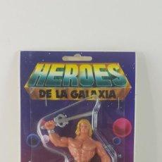Figuras Masters del Universo: HEROES DE LA GALAXIA - MEIPY - ZARKAN - HE-MAN BOOTLEG. Lote 290607103